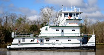 Blessy Marine christened a new 2,000-hp towboat that was built at Verret Shipyard. Blessey Marine photo