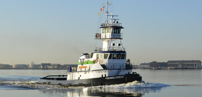 New 94'x34'x15' tug is the 13th Sassafras class tug to enter Vane Brothers' fleet. Vane Brothers photo