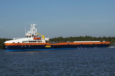 Seacor Marine's fast support vessel Alya McCall. Incat Crowther photo.