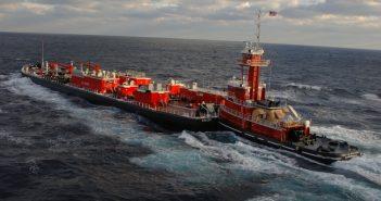 The ATB tug Linda Lee Bouchard pushes barge B205. Bouchard Transportation Co. photo.