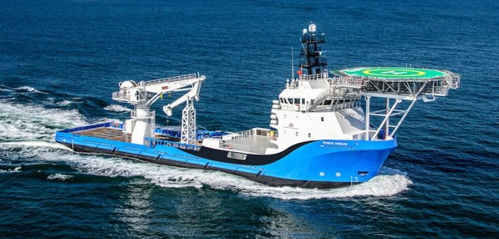 The Brandon Bordelon, a 260'x62' subsea ultralight intervention vessel, is targeted at the emerging specialty market. Photo by Bordelon Marine