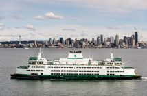 The Chimacum is the third in a series of Olympic-class ferries for Washington State Ferries. Vigor Industrial photo.