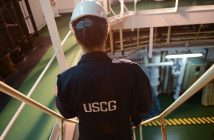 A Coast Guard safety examination in progress. USCG photo.