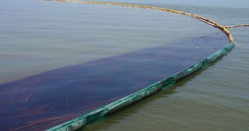 Containment efforts following the 2010 BP oil spill in the Gulf of Mexico. EPA photo.