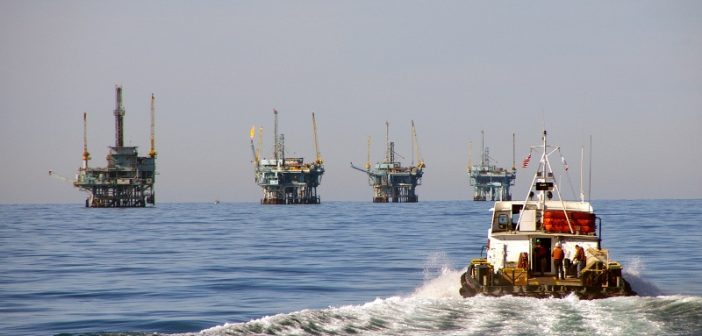 Platforms off the California coast. BOEM photo.