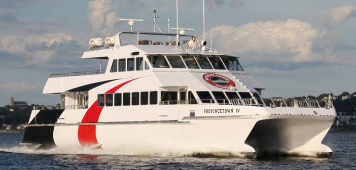 The Provincetown IV provided fast ferry service on Tampa Bay in a six-month trial program. Incat Crowther photo.
