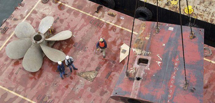 National Steel and Shipbuilding Company shipyard workers. U.S. Navy photo.