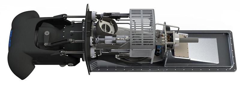 The MJP Hybrid waterjet combines the best characteristics of the MJP DRB and MJP Ultrajet series. MJP Waterjets photo.