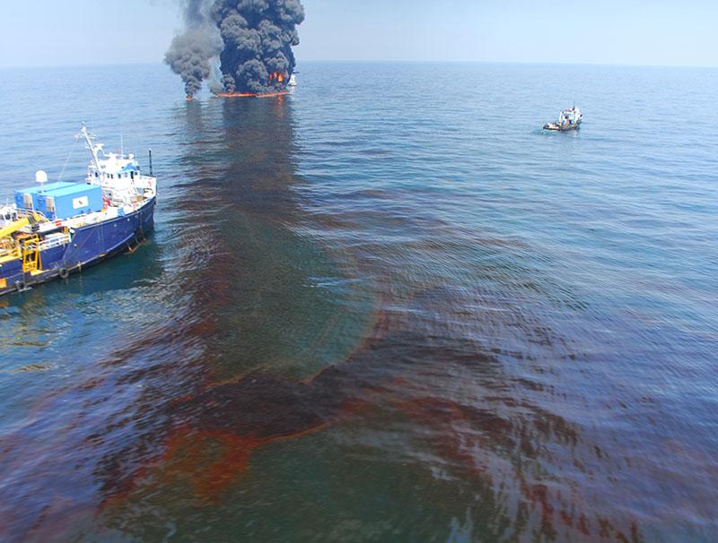 controlled burn Deepwater Horizon spill response USCG.'