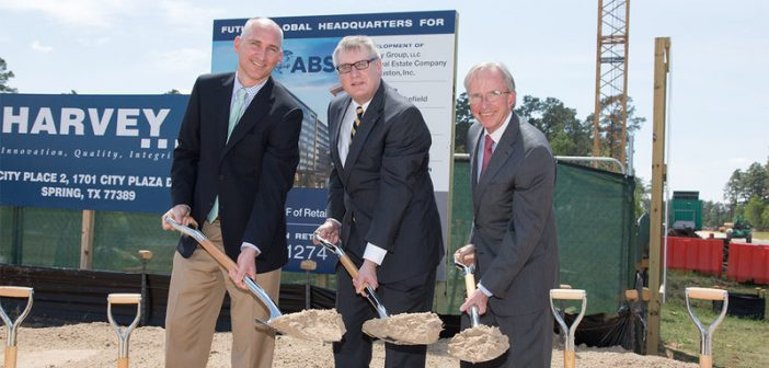 Robert P. Fields, president and CEO, Patrinely Group; Christopher J. wiernicki, chairman, president and CEO, ABS; and Warren W. Wilson, senior vice president, Coventry Development Corp. ABS photo