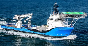 The Brandon Bordelon, a 260'x62' DP 2 subsea ultralight intervention vessel. Bordelon Marine photo.