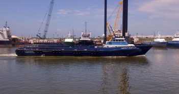 175' fast service vessel is part of Harvey Gulf's new contract agreements. Harvey Gulf photo