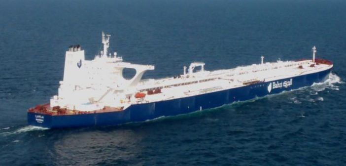 The VLCC Layla, owned by the National Shipping Company of Saudi Arabia (Bahri). Bahri photo.