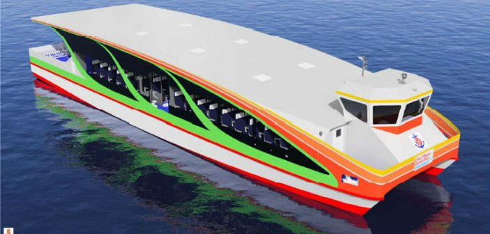 A ferry design from the University of Liege EMShip won first place in the 2017 Worldwide Ferry Safety Association design competition.