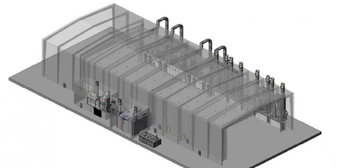 A VT Halter Marine rendering of the company's new blast and paint facility.