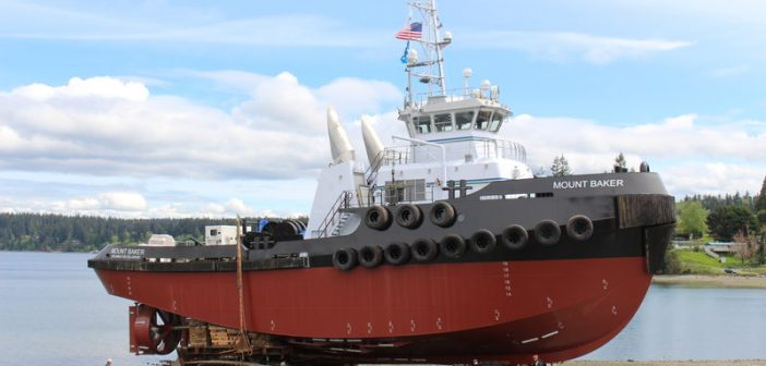 "New 120'x35'x19'3"" tug for Kirby Corp. will welcome a sistership in November."