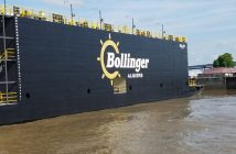 New 198'x76' drydock built by Bollinger Marine Fabricators for Bollinger Algiers. Bollinger Shipyards photo