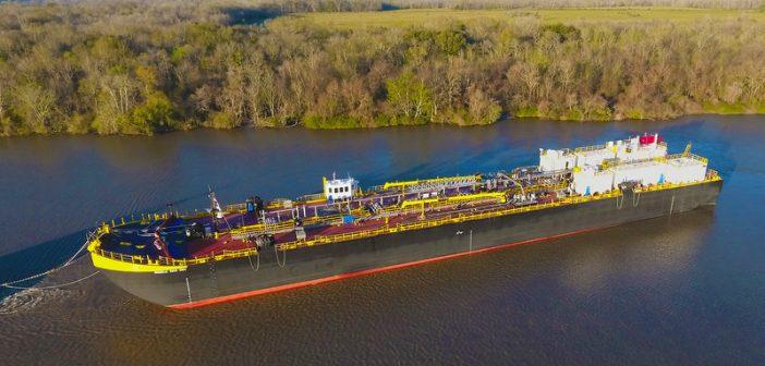 New 361'x62' asphalt barge for Vane Brothers. Vane Brothers photo
