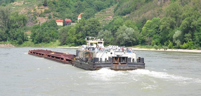 Cargo volume on the Main-Danube Canal is around 7 million tons a year. This compares to 315 million short tons, downbound and upbound, on the Mississippi in 2015. David Krapf photo.