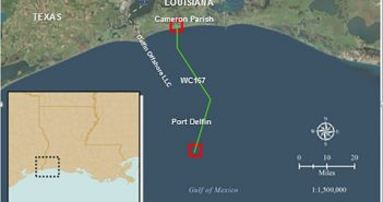 Site of the Delfin LNG project in the Gulf of Mexico. Image courtesy Delfin.