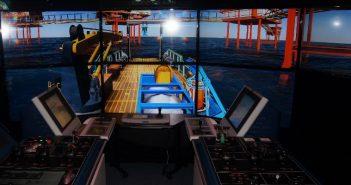 Simulator at the GE Marine Technical Training Center in Houston. GE Marine photo.