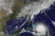 A satellite image of hurricane Joaquin. NASA photo.