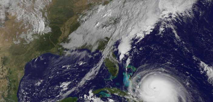 A satellite image of hurricane Joaquin. NASA photo.