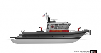 New 38' emergency response boat under construction at Moose Boats. Moose Boats artist's rendering