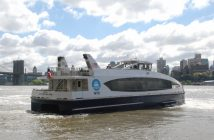 NYC Ferry vessel H102 in the East River. Kirk Moore photo.