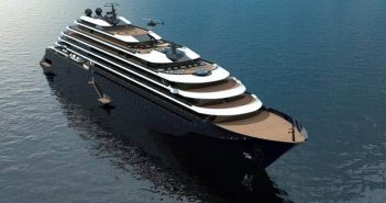 A rendering of one of the planned Ritz-Carlton Yacht Collection vessels courtesy Ritz-Carlton.