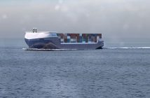 Rendering of a Rolls-Royce autonomous container ship. Rolls-Royce image.