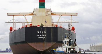 The oil tanker Saiq in 2016. Creative Commons photo by Flickr user Kees Torn.