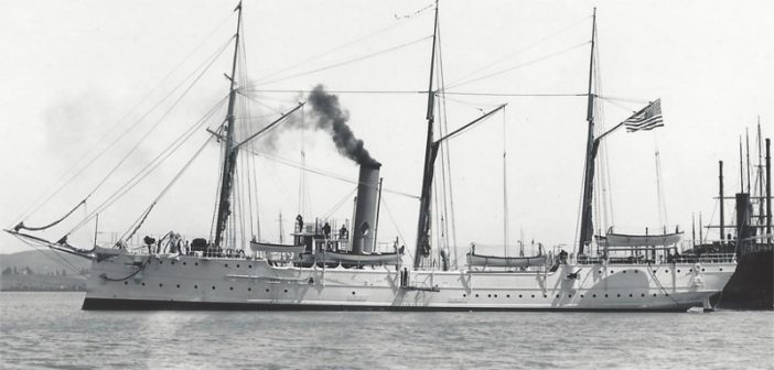 The Coast Guard cutter McCulloch was the largest cutter built to date when it launched in 1896. Mare Island Museum photo.