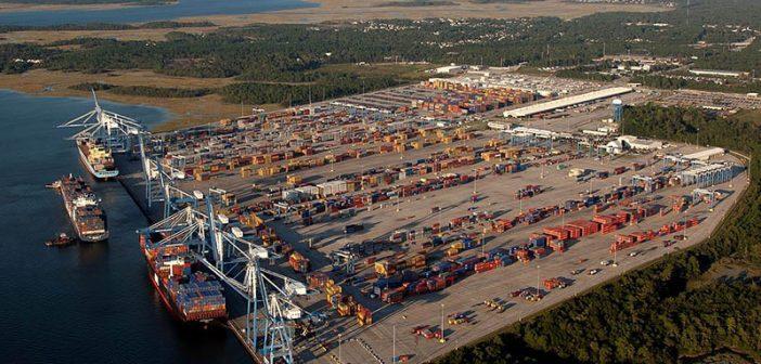 The Wando terminal at the Port of Charleston. South Carolina Ports Authority photo.