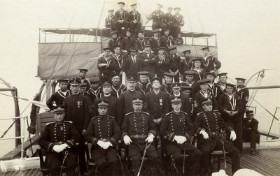An undated photo of the McCulloch crew courtesy of the U.S. Coast Guard Historian's Office.