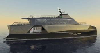 New eco tour boat can carry up to 192 passengers. Incat Crowther rendering.