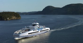 New 44-vehicle, 300-passenger vessels for BC Ferries. Damen Shipyards Group rendering