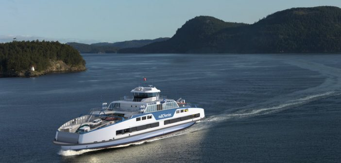 New 44-vehicle, 300-passenger vessels for BC Ferries. Damen Shipyards Group rendering