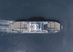 The new ferries will run off the coast of Vancouver, British Columbia. Damen Shipyards Group