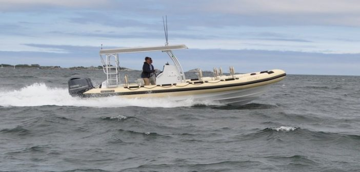 New 30' fiberglass tour boat. Ribcraft photo