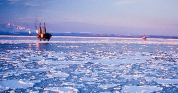 Rigs in icy waters off Alaska. BSSE photo.