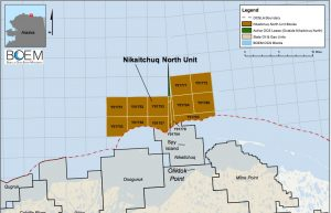 Eni federal leases in the Beaufort Sea. BOEM image.