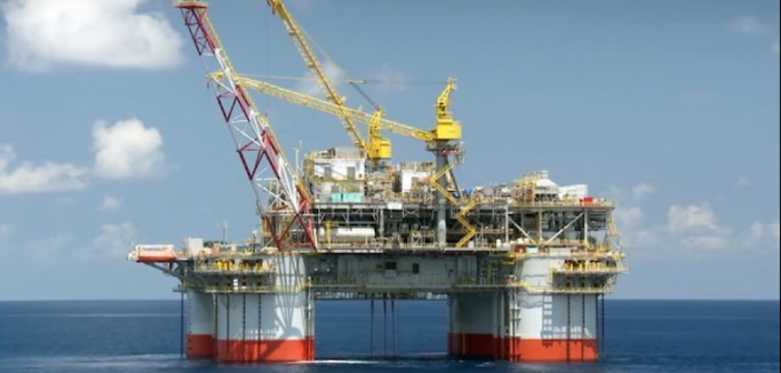 At 177,000 bpd capacity, the Jack/St. Malo is the largest floating production unit that Chevron has in the Gulf of Mexico. Photo courtesy of Chevron