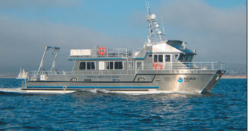 Duke Marine Lab said its new research vessel will be similar to the Fulmar, a 65'x24' catamaran research vessel built for NOAA by All American Marine Inc. in 2006. Photo courtesy of NOAA