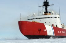 The Coast Guard heavy icebreaker Polar Star. Coast Guard photo.