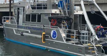 The EdgeTech 6205 Multi Phase Echo Sounder system on the University of New Hampshire research vessel Gulf Surveyor. EdgeTech photo.