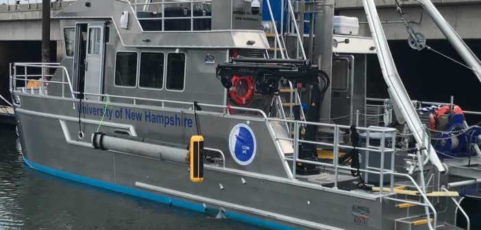 The EdgeTech 6205 Multi Phase Echo Sounder system on the University of New Hampshire research vessel Gulf Surveyor. EdgeTech photo.