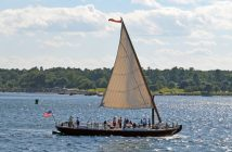 The gundalow Piscataqua under sail. Photo courtesy Walter Lord/Gundalow Company.