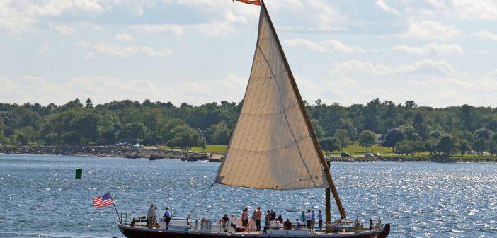 The gundalow Piscataqua under sail. Photo courtesy Walter Lord/Gundalow Company.