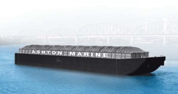 Ashton Marine is having two 200' hopper barges built at Jeffboat. Ashton Marine image